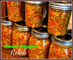 love a good relish or chow chow. It is so good with beans and fresh vegetables or on a hot dog or good smoked sausage. Relish Recipes, Canning Recipes, Hot Dog Relish Recipe, Rub Recipes, Veggie Recipes, Stuffed Banana Peppers, Stuffed Sweet Peppers, Ketchup, Chow Chow Relish