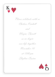 las vegas wedding invite - Google Search