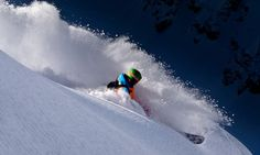Digging into the powder. #skiing
