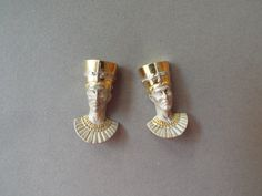 Egyptian earrings sterling silver Queen Nefertiti Cleopatra