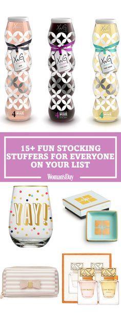 Everyone on your list will love these stocking stuffers...including your wallets! These affordable finds are cute and easy ways to make the whole family happy with the gifts they find in their stockings. Give the gift of delicious scent with a beautifully decorated perfume set.