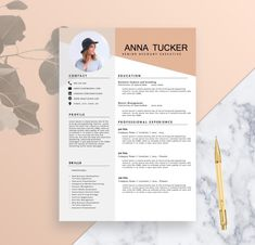 Plantilla de curriculum vitae moderno / por ResumeBoulevard en Etsy If you like this cv template. Check others on my CV template board :) Thanks for sharing! Template Cv, Modern Resume Template, Resume Templates, Cv Design, Resume Design, Word Design, Cv Template Professional, Professional Resume, Curriculum Vitae Simple