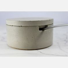 Salt Cellar With Scoop Gray, $48, now featured on Fab.
