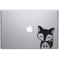 Sticker Macbook Oscar le renard mignon par Optimistick