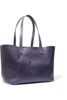 Clare V - Suki Matte-leather Tote - Midnight blue - one size