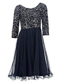 Ashley Brooke by heine - Paillettenkleid nachtblau im heine Online-Shop ➤ Jetzt günstig bestellen auf heine.ch