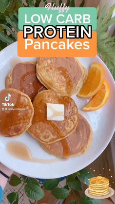 High Protein Low Carb, High Protein Recipes, Low Calorie Recipes, Healthy Breakfast Recipes, Healthy Baking, Low Protein Foods, Healthy Protein Pancakes, Best Low Carb Snacks, Healthy Low Carb Breakfast