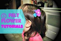 5 felt flower tutorials #diy #crafts