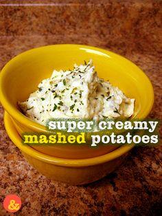 Mashed Potatoes: Ultra fluffy and creamy skin-on mashed potatoes ...