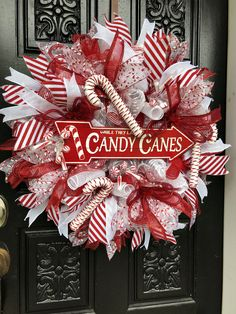 DIY Christmas Wreaths for Front Door - Party WowzyYou can find Holiday wreaths and more on our website.DIY Christmas Wreaths for Front Door - Party Wowzy Stick Christmas Tree, Christmas Wreaths For Front Door, Holiday Wreaths, Rustic Christmas, Diy Christmas Ribbon Wreath, Cheap Christmas, Mesh Ribbon Wreaths, Christmas Candles, Homemade Christmas Wreaths