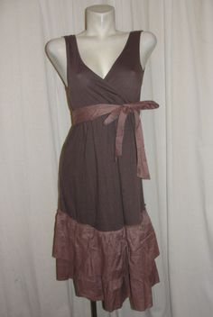 NEW Old Navy Maternity Brown Cotton Modal Tiered Hem Sleeveless Dress Size Small #OldNavy #Sundress #SummerBeach