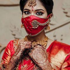 Simple Blouse Designs, Silk Saree Blouse Designs, Stylish Blouse Design, Lehenga Designs, Mehndi Designs, Mouth Mask Fashion, Bridal Mask, Indian Bridal Fashion, Indian Beauty Saree