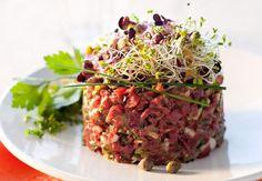 Tartare de bœuf traditionVoir la recette du Tartare de bœuf tradition >>