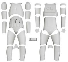 STAR WARS : Costumes and Toys : KIT VERSION 1 - Star Wars Stormtrooper Costume Armour
