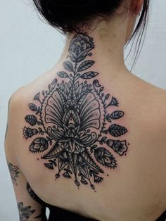 Amazing Floral Back And Neck Tattoo - http://99tattooideas.com/amazing-floral-back-neck-tattoo/ #tattoo #tattooidea #tattoodesign