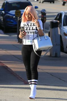 Blac Chyna in tight jeans as she hops into white Ferrari in LA Fashion 101, Trendy Fashion, Fashion Outfits, Womens Fashion, Fashion Finder, Funny Outfits, Trendy Outfits, Sexy Outfits, Black Chyna