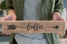 Home Accessories Decor Kitchens - Reclaimed Wood Arrow Coffee Home Decor Sign Gift For Her Coffee Kitchen Decor Coffee sign. Home Decor Signs, Home Decor Kitchen, Unique Home Decor, Cheap Home Decor, Kitchen Dining, Kitchen Ideas, Country Kitchen, Decorating Kitchen, Diner Kitchen