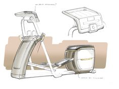 The Precor EFX elliptical trainer from Precor is intended to bring commercial fitness quality and performance into the home. Our research indicated that working out at home is a fundamentally different experience from exercising in a fitness club. Large Water Bottle, Elliptical Trainer, Industrial Design Sketch, Product Sketch, Exercise, Robots, Sketching, Gadgets, Behance