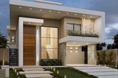 modern-exteriors-10 New Modern House, Best Modern House Design, Modern Exterior House Designs, Modern House Facades, House Front Design, Dream House Exterior, Exterior Design, Modern Houses, Modern Design