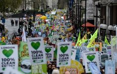 cool Throngs of local weather marchers in London as Paris fights public demonstration ban