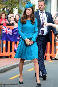 Kate Middleton, Duchess of Cambridge in Emilia Wickstead visits Dunedin on a stop during The Royal Tour.