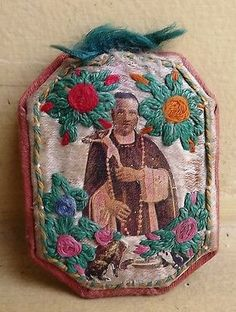 Genuine Beautiful Lot of 3 Holy Scapular Hand Embroidered Thread   eBay