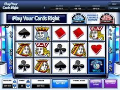 Play your cards right Slots|slots online @ Moon Games