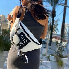 🤍 Designed to be chic and practical with a sporty look, contributing enough room to assemble all your essentials, this FRNC white belt bag is a must have! . . #papanikolaoushoes #frnc #frncbags #beltbag #ss21collection White Belt, Sporty Look, Must Haves, Essentials, Chic, Room, Bags, Design, Shabby Chic
