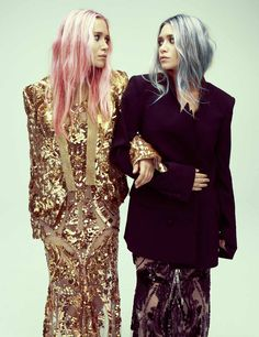 The Olsen's rock pastel hair
