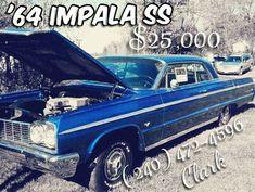 1964 Chevrolet Impala For Sale Takoma Park, Maryland 64 Impala For Sale, Chevrolet Impala 1965, Master Truck, Mack 1, Takoma Park, Panel Truck, Sprint Cars, Black Exterior, Quinceanera