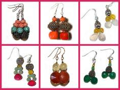 Qué bonitos los pendientes de Laibajan! Me encantan! http://laibajan.es/es/7-alhajas #piedras #semipreciosas #artesania #handmade #artesanal #complementos #moda