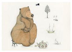 Bear Bear impression Giclee Print 8 x 11 le par ChasingtheCrayon