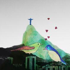 Marina Papi: Carioca e cheia de criatividade, a Marina adora criar manifestações visuais. Tem tanto trabalho lindo que é complicado mostrar só um! De todas suas pinturas, as mais impressionantes são as ilustrações digitais, feitas sobre fotografias da querida cidade do Rio de Janeiro.
