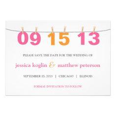 Zahl-Save the Date Einladungs-Karte