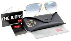 Ray-Ban RB3025 001/3F 58mm Gold Metal / Blue Gradient Lenses Made in Italy