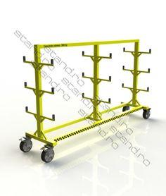 Carucior industrial de transportat tevi / bare www.stand.ro