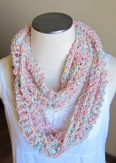 Crochet Cowl/ Hooded Scarf/ Infinity Scarf made with by Kitkateden, $25.00