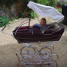 Classic vintage carriage pram made by Marmet Pram Stroller, Bassinet, Baby Strollers, Silver Cross Prams, Vintage Pram, Prams And Pushchairs, Baby Prams, Baby Carriage, Changing Pad