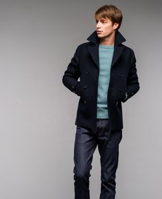 New Peacoat | felted wool itemprop=