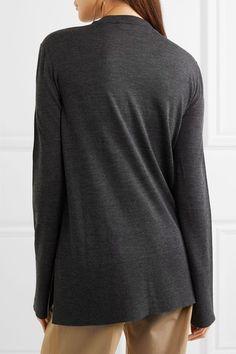 Marni - Ruffled Wool Sweater - Navy - IT40