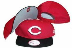 Cincinnati Reds Red/Black Two Tone Low Profile Snapback Adjustable Plastic Snap Back Hat / Cap - Size Low Profile Adult OSFA - (Sz. 6 7/8 - 7 5/8) by New Era. $9.99