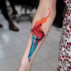Watercolor tattoo art Laura Bochet
