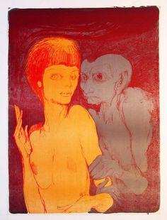 A hand signed screenprint by Ernst Fuchs.