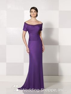 Beautiful purple mother of the bride or groom dress.