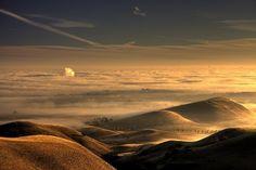 sunrise at Black Diamond Regional Park,Antioch,Calif.-- View On Black Antioch California, California Dreamin', Planet Earth, Black Diamond, Mists, Airplane View, Sunrise, Photos, Around The Worlds