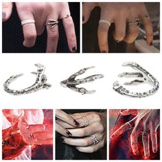 Scarlet Witch Wanda Maximoff's talon ring from Avengers 2 Age of Ultron. Pamela Love - Sterling Silver Bird Talon Ring more info and where to buy: https://1un4r.wordpress.com/2015/07/29/scarlet-witch-talon-ring/ Info Courtesy of MCU Fashion.