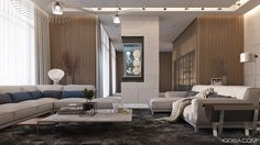 Designed by the creative architects and interior artists at IQOSA, this luxurious home in the suburbs of Kiev demonstrates the gorgeous intersection of casual m