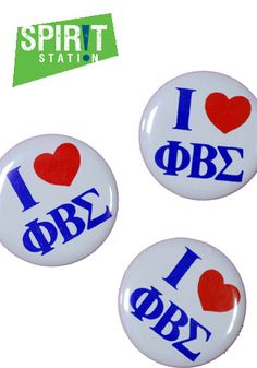 Phi Beta Sigma I Heart Button - On sale this week 3/3-3/9/13