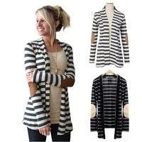 Wish | Women Cardigan Autumn Winter Jackets Fashion Casual Loose Long Sleeve Striped Coat All-Match Outerwear Slim Vintage Coat Jackets Women Clothing Blouse Tops Casacos Femininos Abrigos Mujer Plus Size