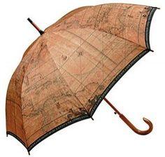 Antique map umbrella